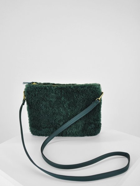 Primecut Sheepskin Pouch Purse - Green