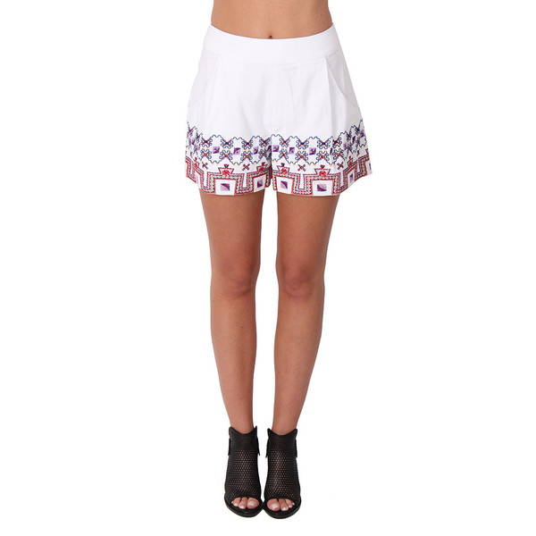 Suno Embroidered High Waisted Shorts