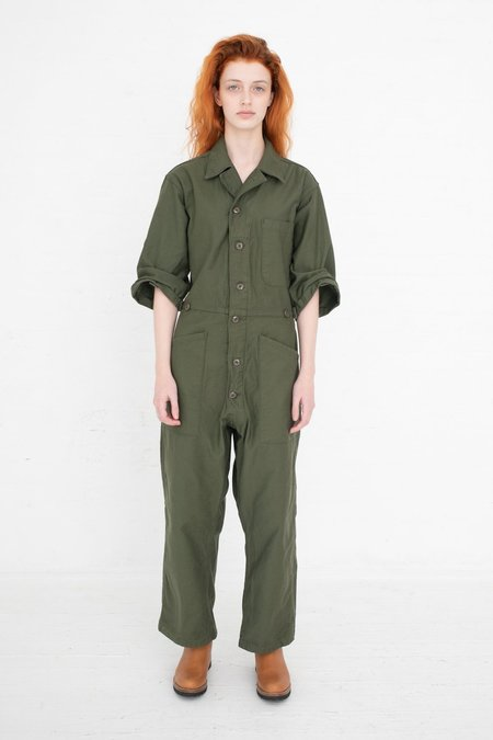 As Ever Button Jumpsuit  - Olive