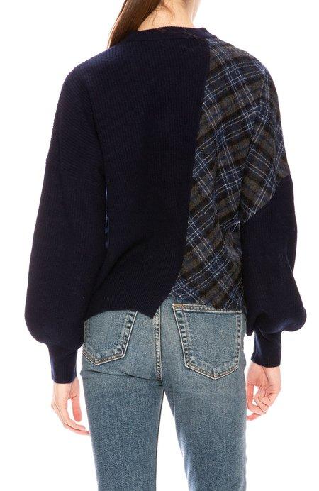 27 Miles Asymmetric Sweater - Plaid