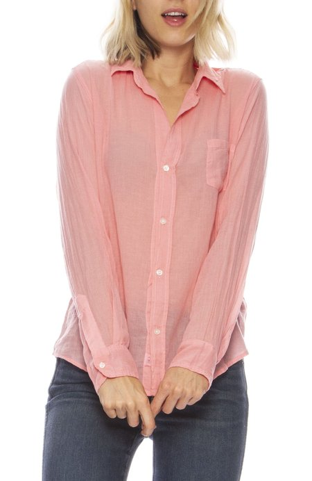 b2e93870 ... Frank & Eileen Barry Cotton Voile Button Down - pink