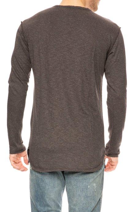 Twenty Montreal Brooks Long Sleeve Slub T-Shirt - Charcoal