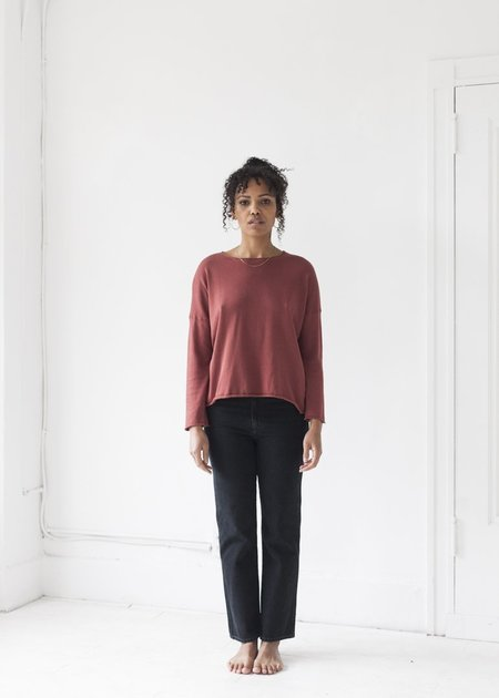 It Is Well L.A. Long Sleeve Boxy Sweater - French Rose
