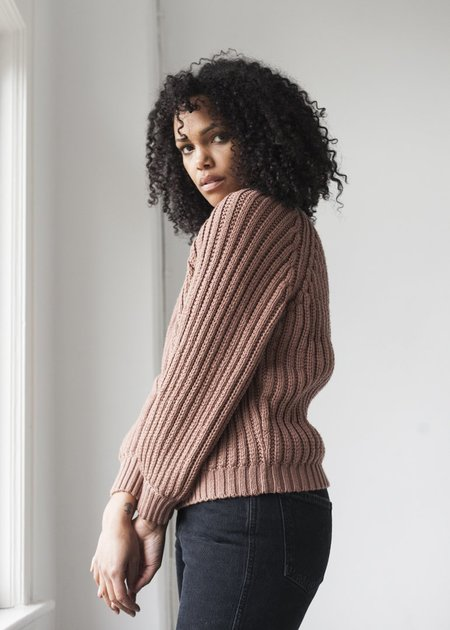 Micaela Greg Miter Rib Sweater - Copper