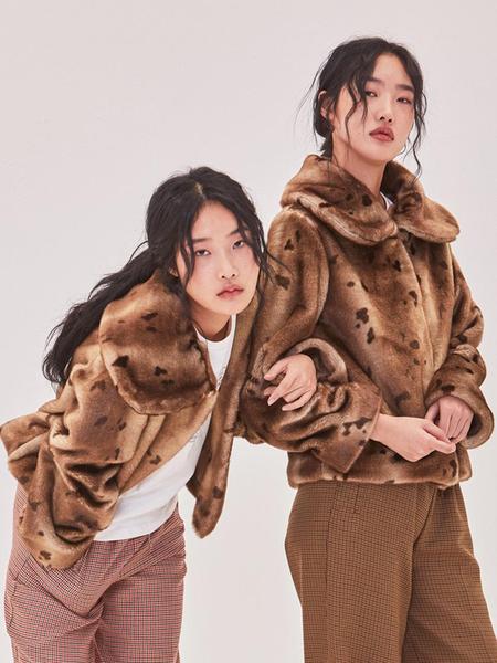 Ryul + Wai: Eco Bambi Fake Fur Jacket - Brown