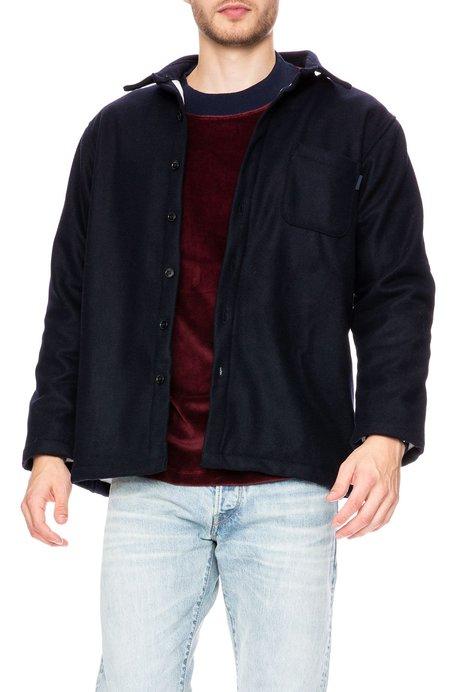 Freshjive Chavelo Faux Fur Lined Shirt Jacket - Navy