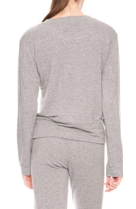Monrow Super Soft Crew Sweatshirt - Dark Heather