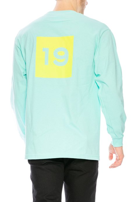 Flowers Club Soccer Long Sleeve T-Shirt - Teal Blue