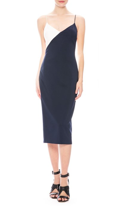 CUSHNIE ET OCHS Color Block Pencil Dress