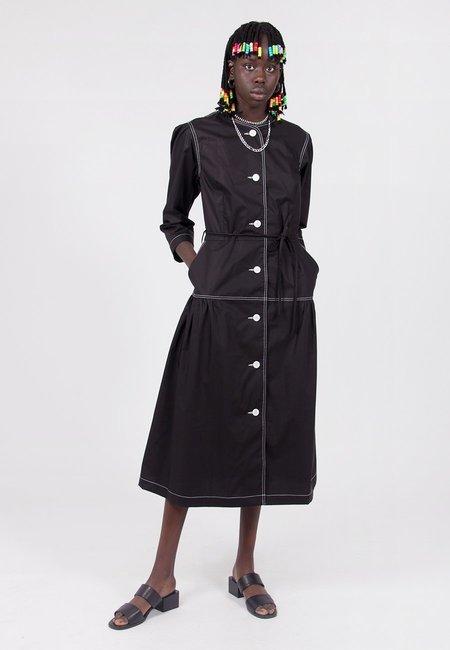 VERNER Portrait Dress - Black