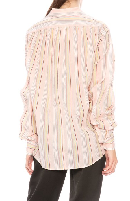3.1 Phillip Lim Gathered Sleeve Button Down Shirt - Striped