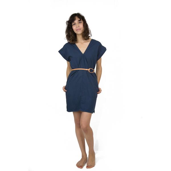 Esby Poplin Kimono Dress