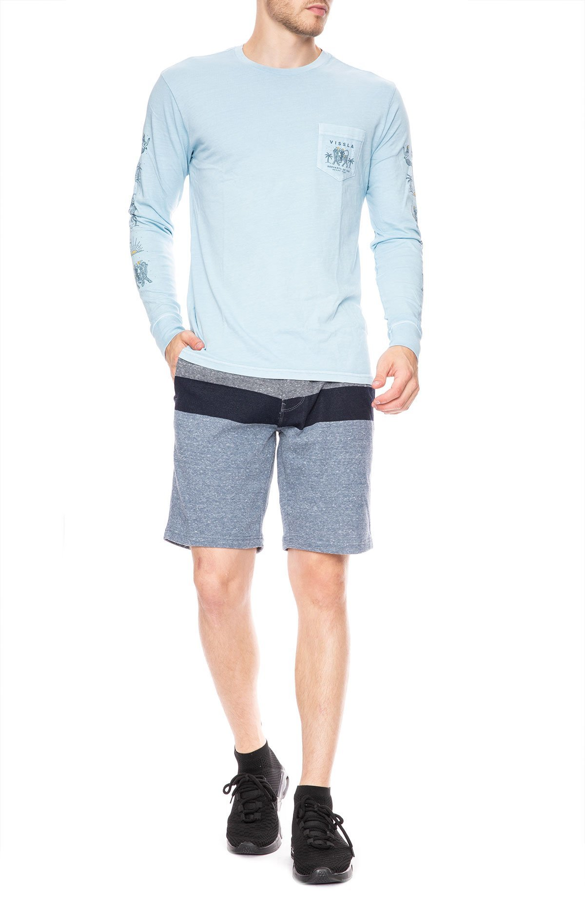 28c6168553 Vissla Genie Long Sleeve T-Shirt - Ice Blue