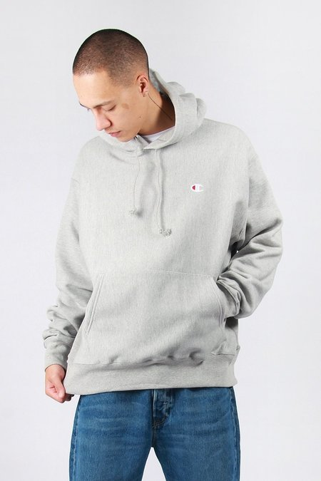 Champion Reverse Weave PO Hoodie - Oxford Grey