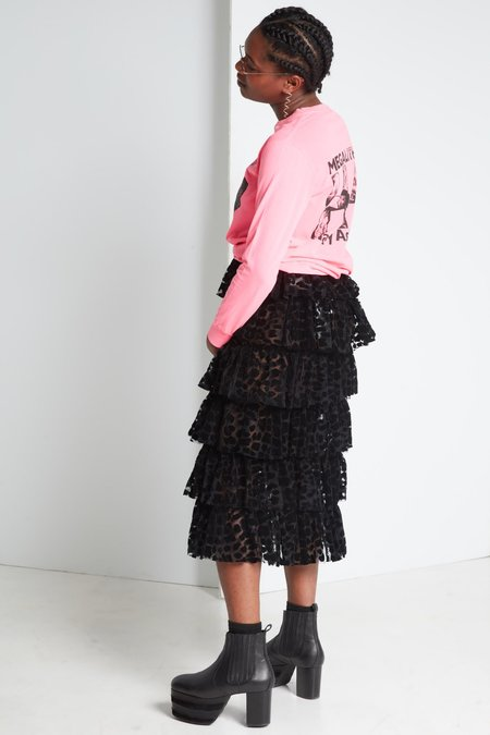 Ashley Williams Stone Head Long Sleeve Tee - Hot Pink