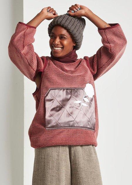 Michons Margot Wine Polar Fleece Pullover