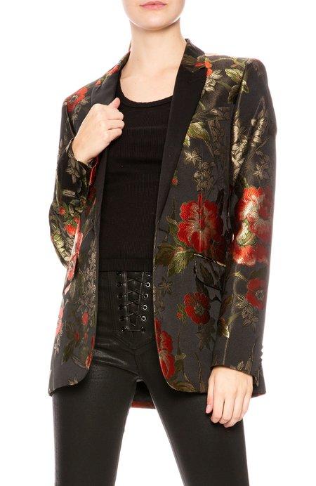 Garcons Infideles Johnny Suit Jacket - Floral Print