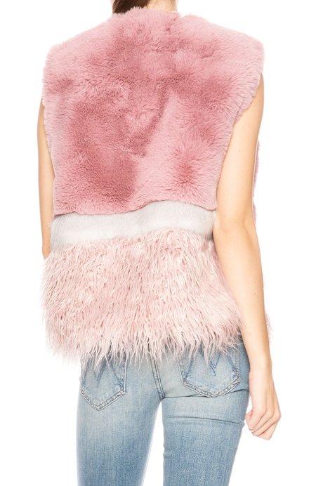 Apparis Kate Faux Shaggy Vest - Mauve
