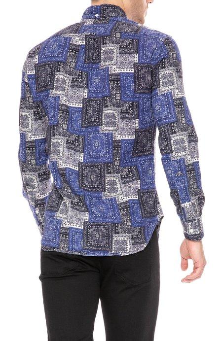 Gitman Bros. Paisley Blues Shirt - 41 Paisley