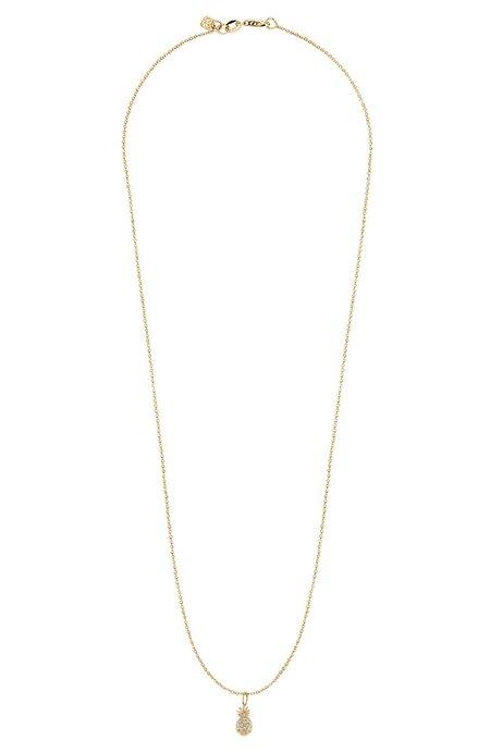 Sydney Evan Pavé Diamond Pineapple Charm Necklace