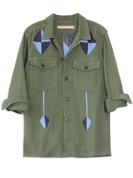 Bliss and Mischief Pray For Rain Army Jacket - Royal Blue/Navy