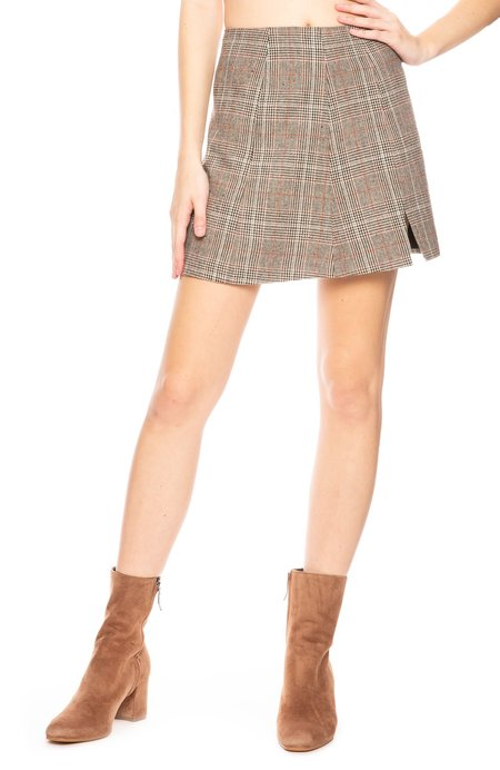Capulet Rosa Plaid Skirt - Glen Plaid
