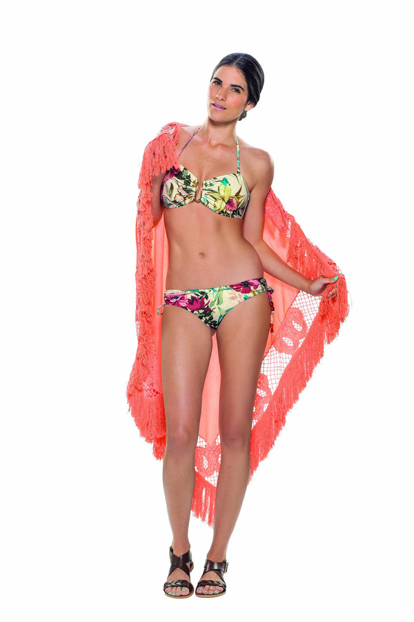 Estivo Two Piece Hint of Gold Floral BOTTOMS