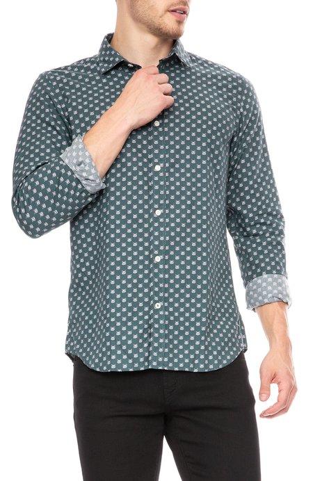 Hartford Sammy Slim Fit Shirt - Tiny Fox Print