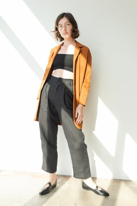 OR Frankie Linen Pant - Black