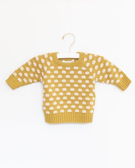 KIDS Micaela Greg Baby Dot Sweater - Mustard