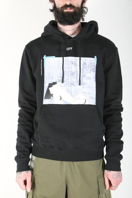 Off-White c/o Virgil Abloh Dondi Square Slim Hoodie - Black