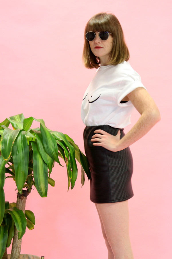 Eve Gravel Mont-Royal Skirt (Leatherette)