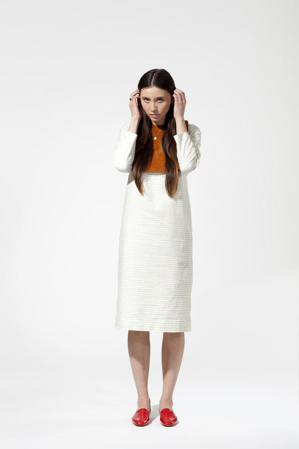 Carleen California Midi Dress - Windowpane