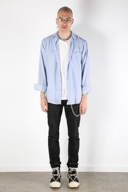 Rxmance Vintage Workwear Shirt - Blue/Navy Stripe