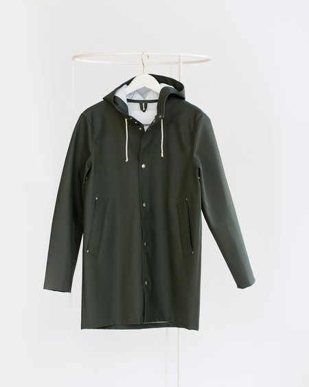Unisex Stutterheim Stockholm Raincoat - Green