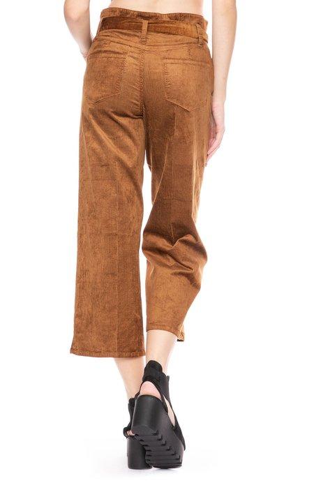 Paige Sutton Cropped Paper Bag Pant - Light Chestnut