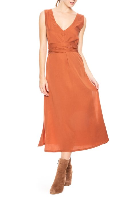 Sancia The Faretta Dress - Cinnamon