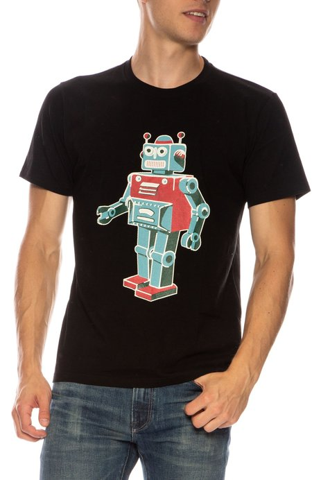 TEE LIBRARY Toy Robot T-Shirt - BLACK