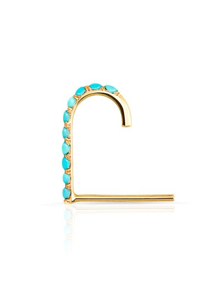 SMITH + MARA Single Suspender Earring - Turquoise