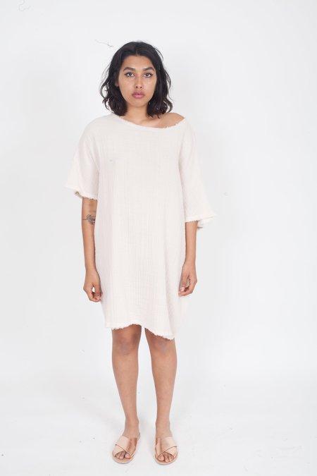 Anaak Kai Crewneck Tunic - Soft Pink/Ivory