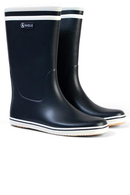 Aigle Malouine Boot Marine Blanc - Black
