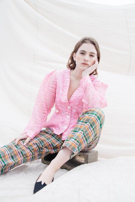 Nikki Chasin Satie Blouse - Pink Zebra Burnout