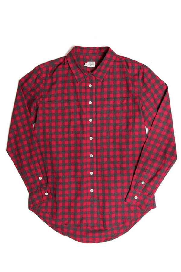 Bridge & Burn Lane Red Gingham Top