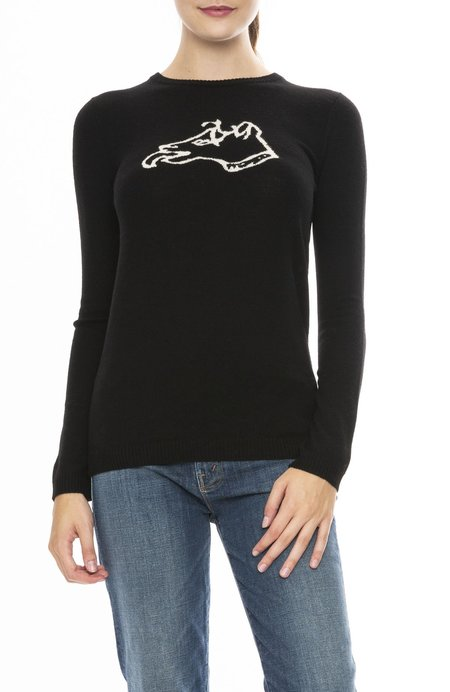 Bella Freud Wool Dog Sweater