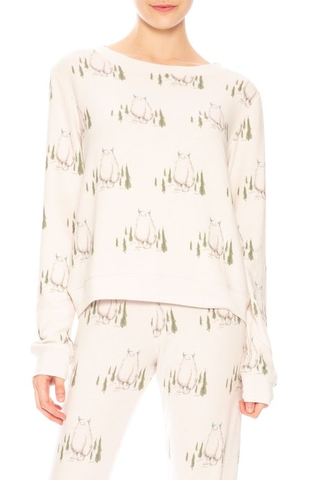 All Things Fabulous Cozy Pullover - Yeti Print