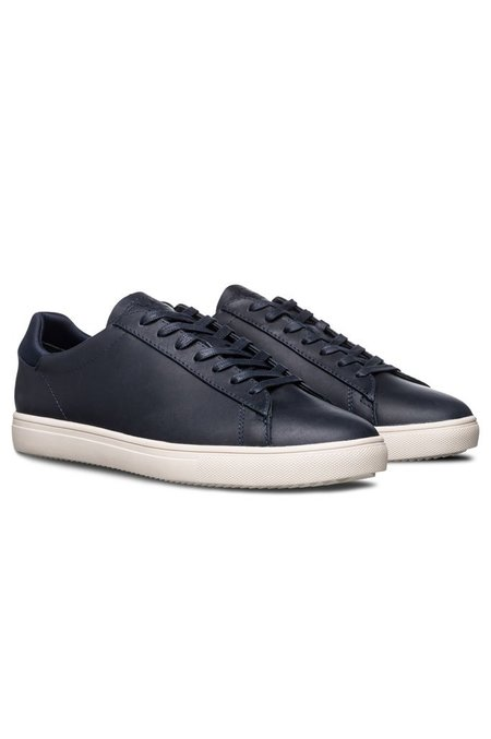 Clae Bradley Full Grain Leather Sneaker - Navy