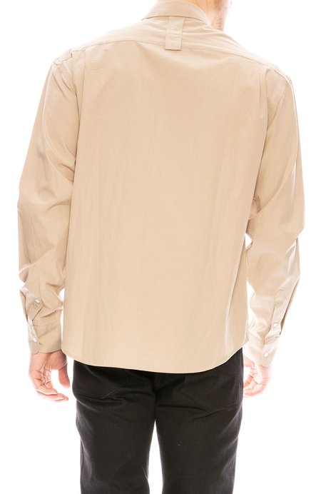 P.L.C Zipper Pocket Shirt - Beige