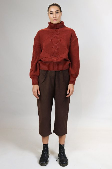 House of Sunny Turtleneck Knit Sweater - Red