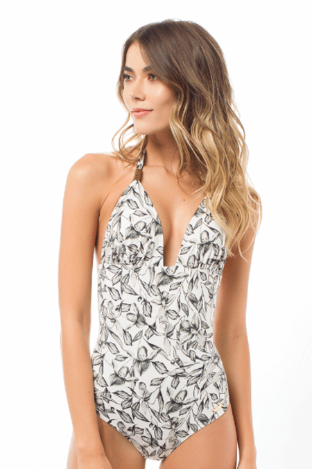 Saha Rio One Piece Reversible - Botanical/Black