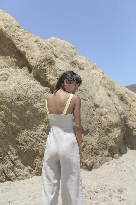 Stil. Colorblock Jumpsuit - Sand/Yellow